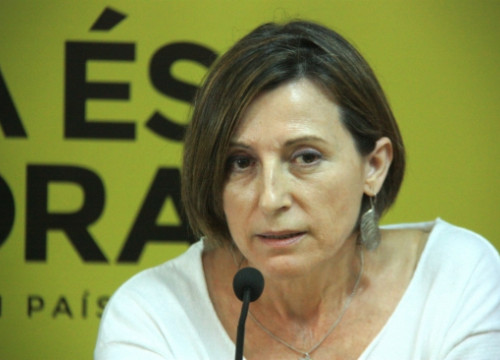 Carme Forcadell, President of ANC, in a recent press conference (by R. Garrido)