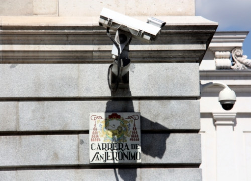 Security cameras in the Spanish Parliament (by ACN)