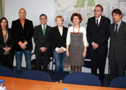 The Catalan MEPs with the European Commissioner Androulla Vassilliou (centre) (by A. Segura)
