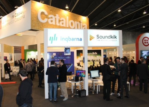 Catalonia's stand at the App Planet (by B. Ramage)
