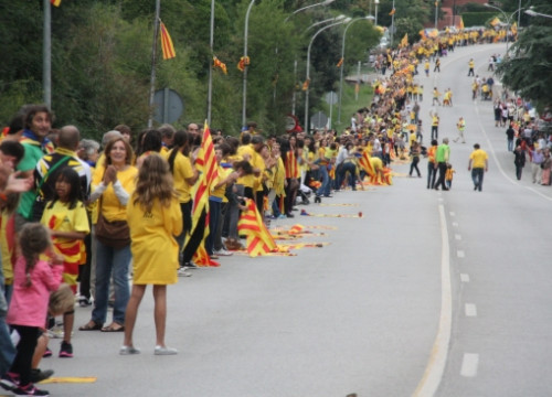 The 2013 Catalan Way towards Independence, spanning 400km without interruption (by ACN)