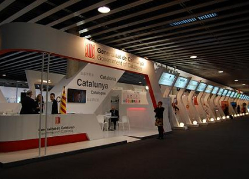 Catalonia's stand at the 2013 Mobile World Congress (by R. Soto)