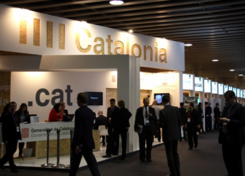 Catalonia's stand at the 2014 Mobile World Congress (by J. R. Torné)