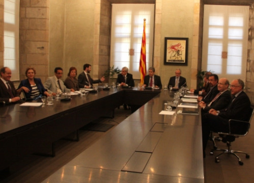 The Catalan Government's Advisory Council for the National Transition met this Monday (by P. Mateos)