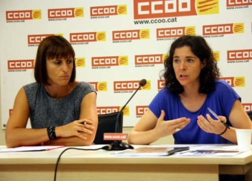 The presentation of the CCOO study in Barcelona (by ACN)
