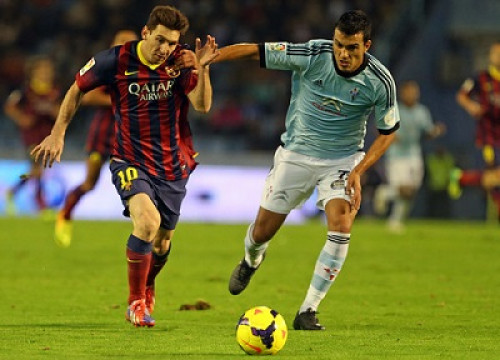 Leo Messi in the last match against Celta de Vigo (by FC Barcelona)