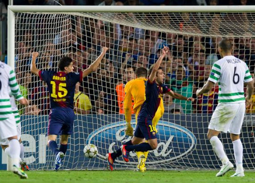 Jordi Alba scored Barça's second goal against Glasgow Celtic in injury time (by FC Barcelona)