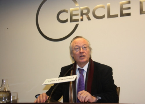Josep Piqué, at the Cercle d'Economia press conference (by J. Molina)
