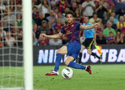 Cesc Fàbregas scored Barça's second goal against Villareal (by FC Barcelona)