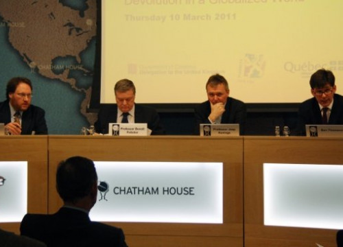 The debate was organised by the think tank Chatham House in London (by L. Pous)