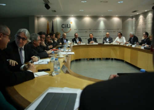 The meeting of CiU's National Executive Commission (by ACN)