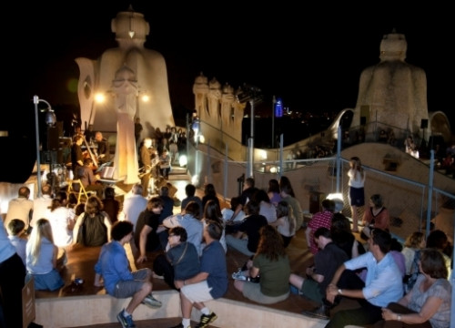 One of the jazz concerts on La Pedrera's roof terrace (by ACN)