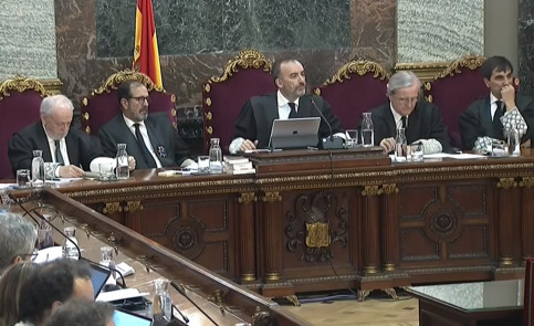 Supreme Court courtroom where the Catalan independence trial is taking place (by EFE)