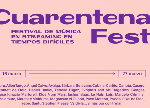 Cuarantena Fest logo, an online streaming music festival 'in difficult times' (image courtesy of Cuarantena Fest)