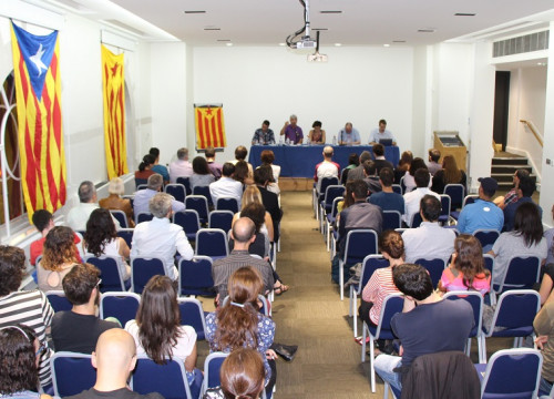 The debate 'Catalan independence within the context of austerity and sovereignty crisis in Europe' held this Tuesday in London (by ACN)