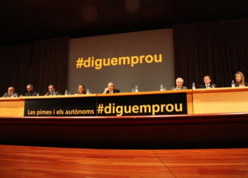 The #diguemprou event protested against the political and fiscal discriminations of SMEs and independent workers (by J. R. Torné)