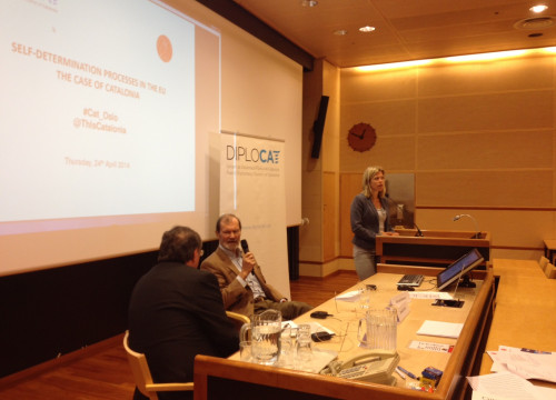 An image of the debate held on Thursday at the University of Oslo (by Diplocat)