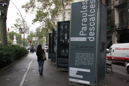 The photo exhibition in Gran Via avenue (by M. Fernández)