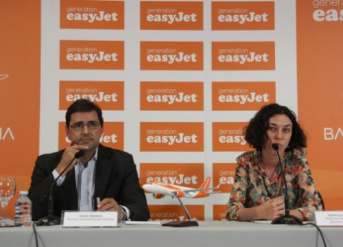 Easyjet's press conference in Barcelona El Prat Airport (by L. Vilaró)