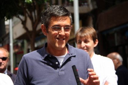 Eduardo Madina in Barcelona in May, campaigning for the PSOE at the last European Elections (by ACN)