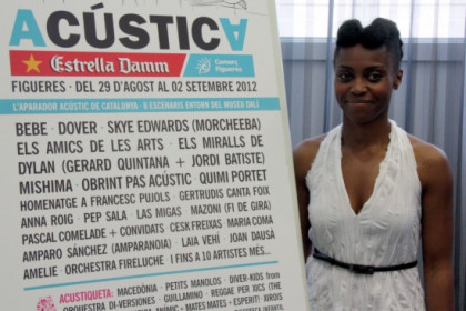 Skye Edwards, the singer of Morcheeba, in Figueres, where she will present her new album next Saturday (by M. Lopez)