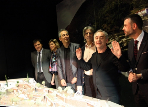 The presentation of Ferran Adrià's (second from the right) elBulli1846 project (by ACN)