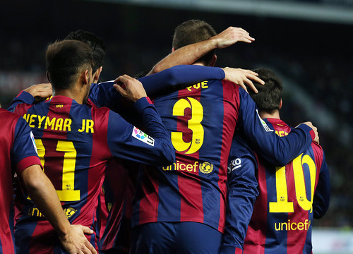 Barça players scored 6 goals against Elche (by FC Barcelona)