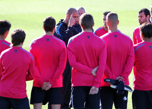 Pep Guardiola is asking his players to especially focus on the next match against Ceuta (by FC Barcelona)