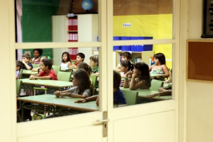 Pupils starting school this week in Barcelona (by O. Campuzano)
