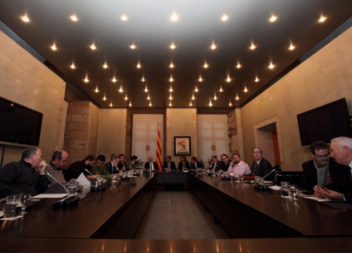 The meeting took place at the Generalitat Palace (by O. Campuzano)