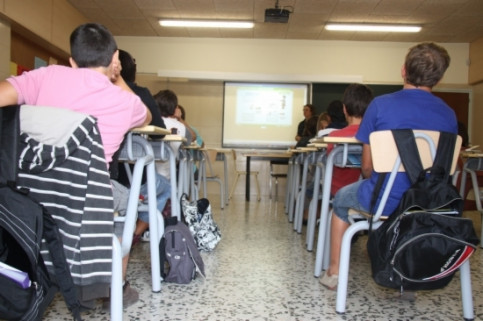 A classroom in the Escola Intermunicipal del Penedès High-School