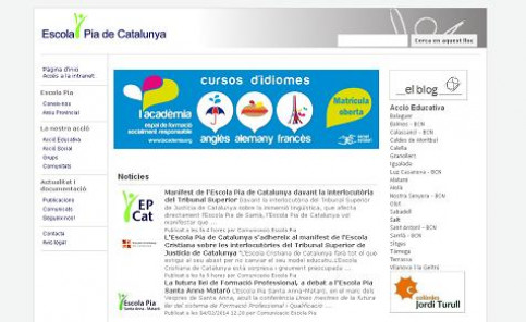 The website of the Escola Pia school network (by Escola Pia)