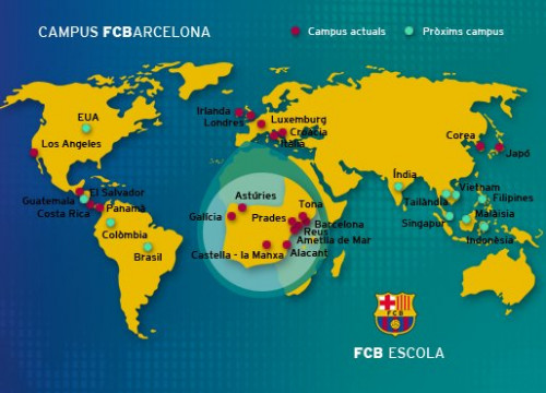 FC Barcelona has organised summer schools throughout the world (by FCB)