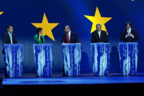 The five candidates to chair the European Commission in the first and only debate (by L. Framis)