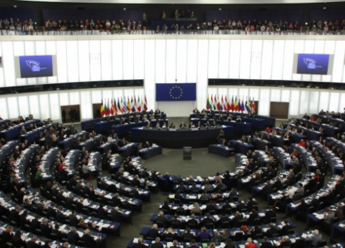 The European Parliament's plennary session (by B. Blay)