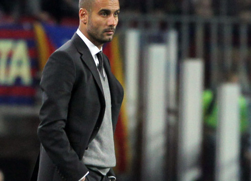 Pep Guardiola, FC Barcelona's coach, during the last match (by FC Barcelona)