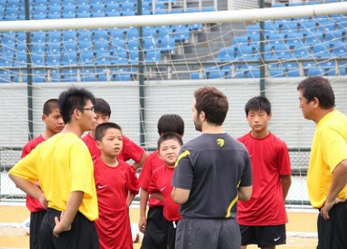The FCB Escola's campus in Beijing kicked off on July 30th (by FC Barcelona)