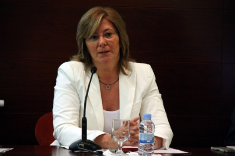 The Catalan Justice Minister, Pilar Fernández Bozal, presenting the new system (by P. Solà)