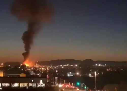 Fire at chemical plant in Tarragona January 14, 2020