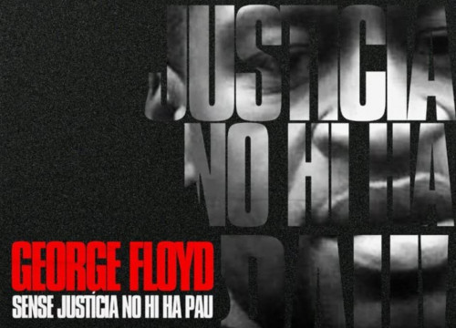 Screenshot of the poster for the Black Lives Matter demonstration in Barcelona following the killing of George Floyd
