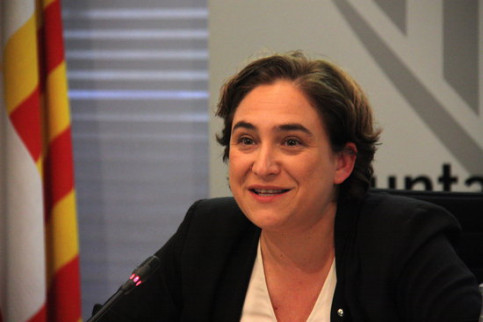 The Mayor of Barcelona, Ada Colau (by ACN)