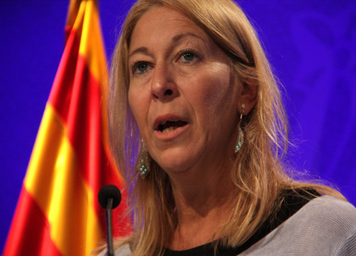 Close up of the Catalan Government's Spokeswoman, Neus Munté (by ACN)