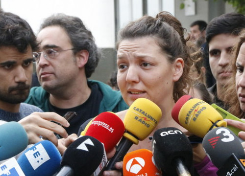 The mayor of Berga, Montse Venturós, after testifying before the judge (by ACN)