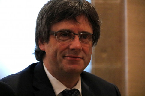 Close-up of the Catalan President, Carles Puigdemont (by ACN)