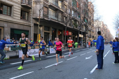 Runners taking part in the 2017 Barcelona marathon (by Júlia Pérez)