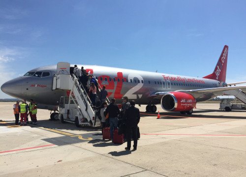 One of 'Jet2' planes at Reus airport (by ACN)