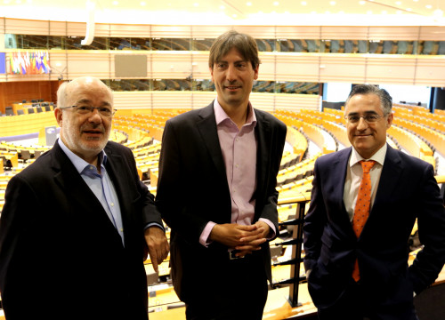 Catalan MEPs Terricabras, Solé and Tremosa