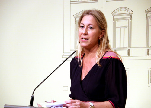 Catalan Government spokeswoman, Neus Munté, at a press conference (by ACN)