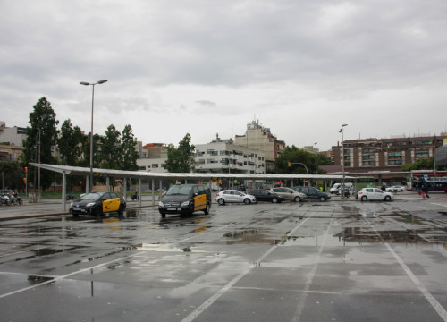 The taxi stand in Sants was almost empty due to the strike (by ACN)