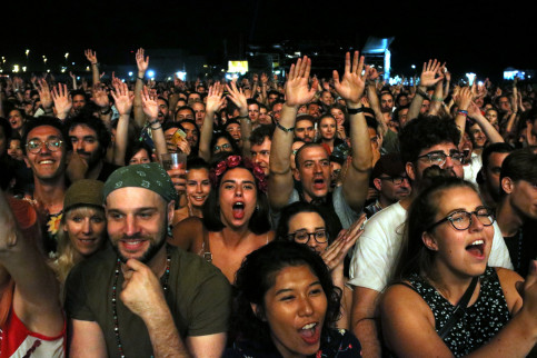 Attendees at this summer's Primavera Sound in Barcelona (by ACN)